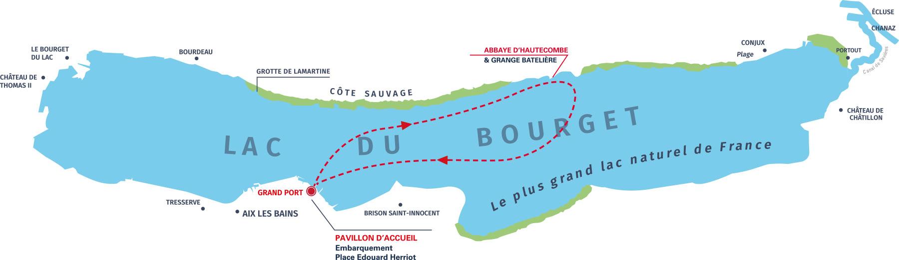 Plan du Lac du Bourget